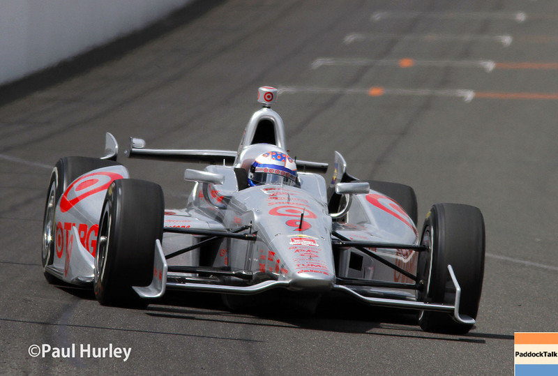 May 12: Scott Dixon during practice for the Indianapolis 500.