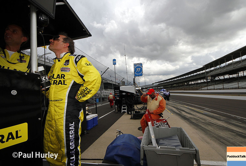 May 10: Jacques Villeneuve during practice for the Indianapolis 500.