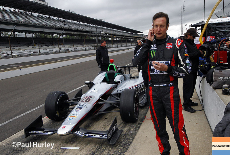 May 15: Kurt Busch during practice for the Indianapolis 500.