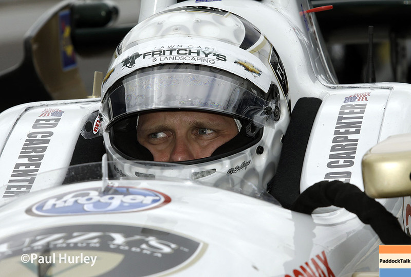 May 15: Ed Carpenter during practice for the Indianapolis 500.