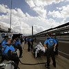 May 10: Pit lane during practice for the Indianapolis 500.