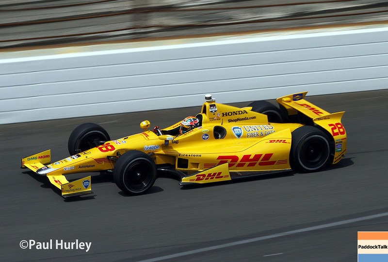 May 12:  Ryan Hunter-Reay during practice for the Indianapolis 500.