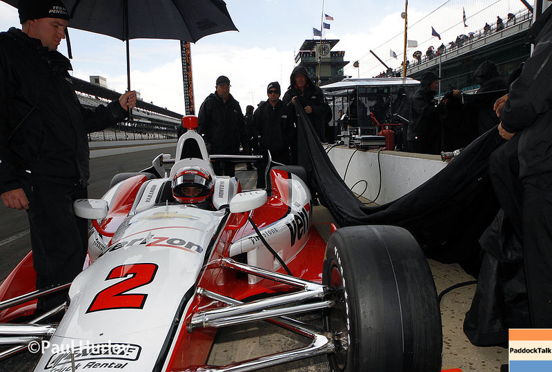 May 16: Juan Montoya during practice for the Indianapolis 500.