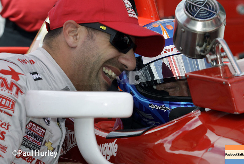 May 10: Tony Kanaan and Scott Dixon during practice for the Indianapolis 500.