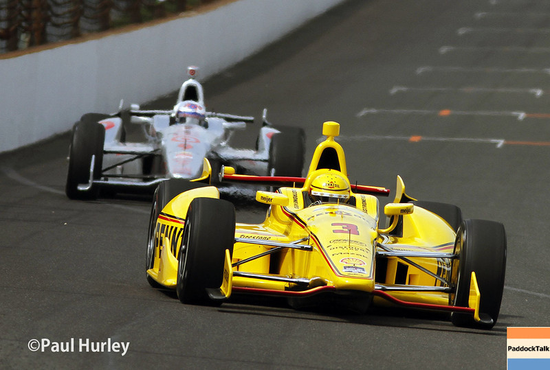 May 12: Helio Castroneves during practice for the Indianapolis 500.