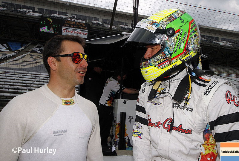 May 13: Oriol Servia and Townsend Bell during practice for the Indianapolis 500.