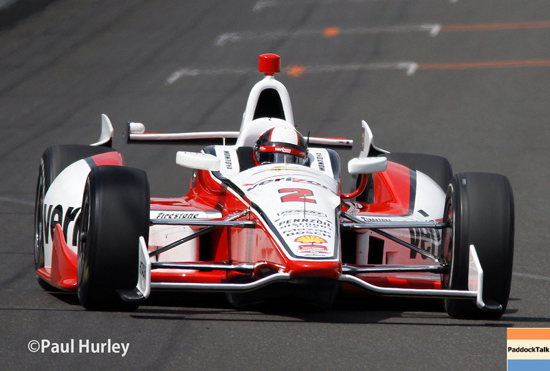 May 12: Juan Montoya during practice for the Indianapolis 500.