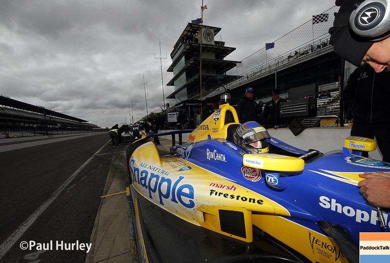 May 15: Marco Andretti during practice for the Indianapolis 500.
