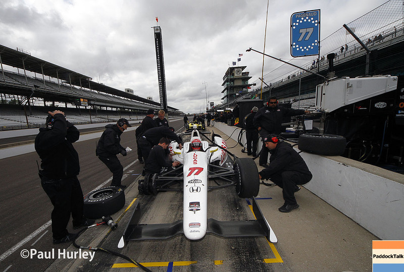 May 15: Simon Pagenaud during practice for the Indianapolis 500.