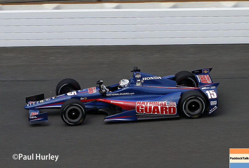 May 12: Graham Rahal during practice for the Indianapolis 500.