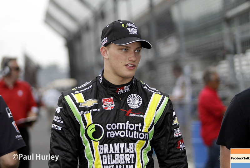 May 12: Sage Karam during practice for the Indianapolis 500.
