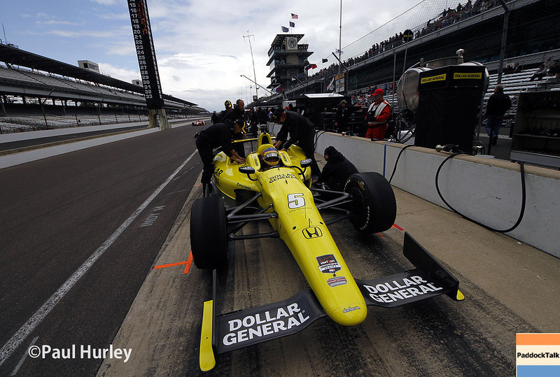 May 16: Jacques Villeneuve during practice for the Indianapolis 500.