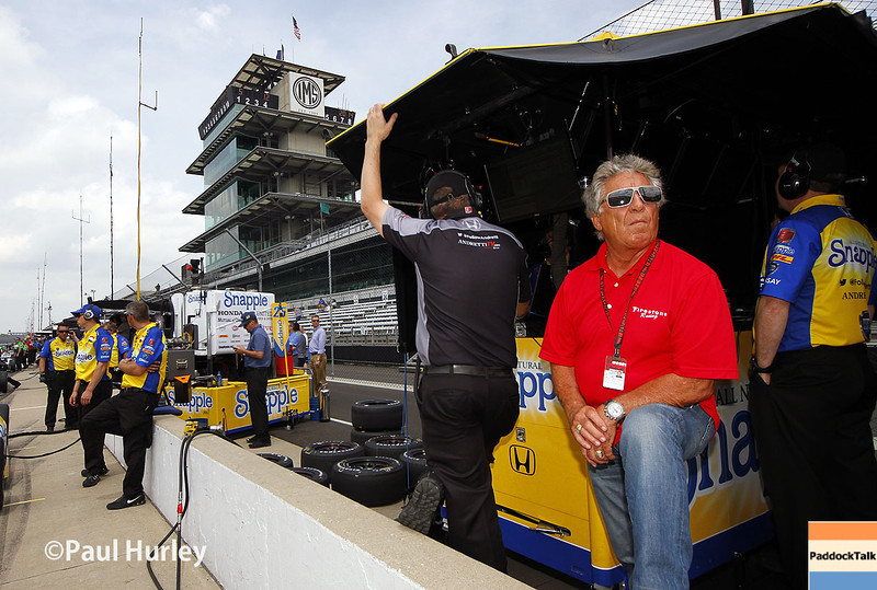 May 12: Mario Andretti during practice for the Indianapolis 500.