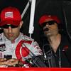 May 10: Tony Kanaan and Dario Franchitti during practice for the Indianapolis 500.