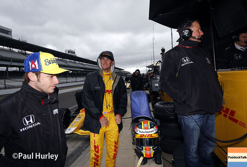 May 15: Team Andretti during practice for the Indianapolis 500.