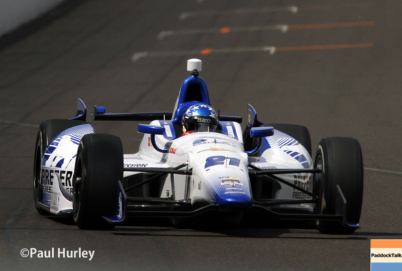 May 12: J.R. Hildebrand during practice for the Indianapolis 500.