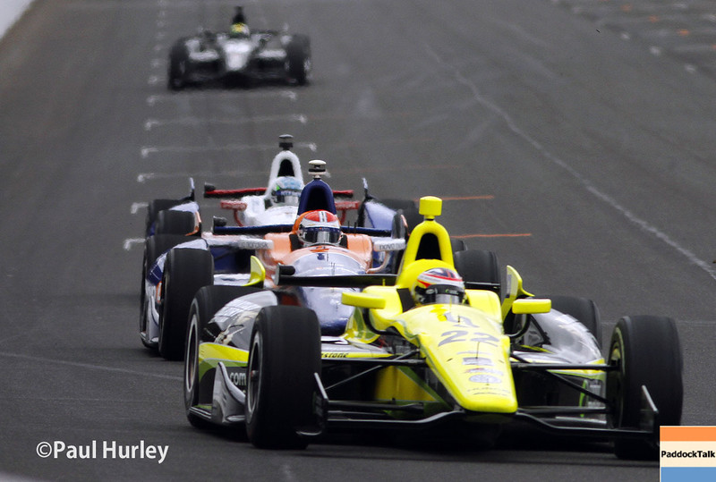 May 15: Track action during practice for the Indianapolis 500.