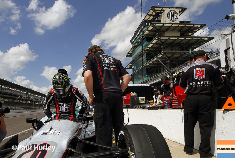 May 10: Kurt Busch during practice for the Indianapolis 500.