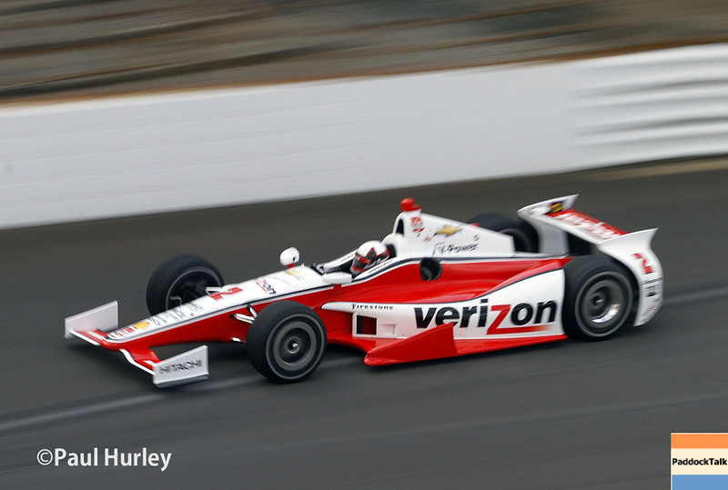May 10: Juan Montoya during practice for the Indianapolis 500.
