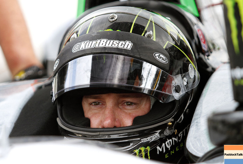 May 13: Kurt Busch during practice for the Indianapolis 500.
