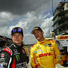 May 10: Kurt Busch and Ryan Hunter-Reay during practice for the Indianapolis 500.