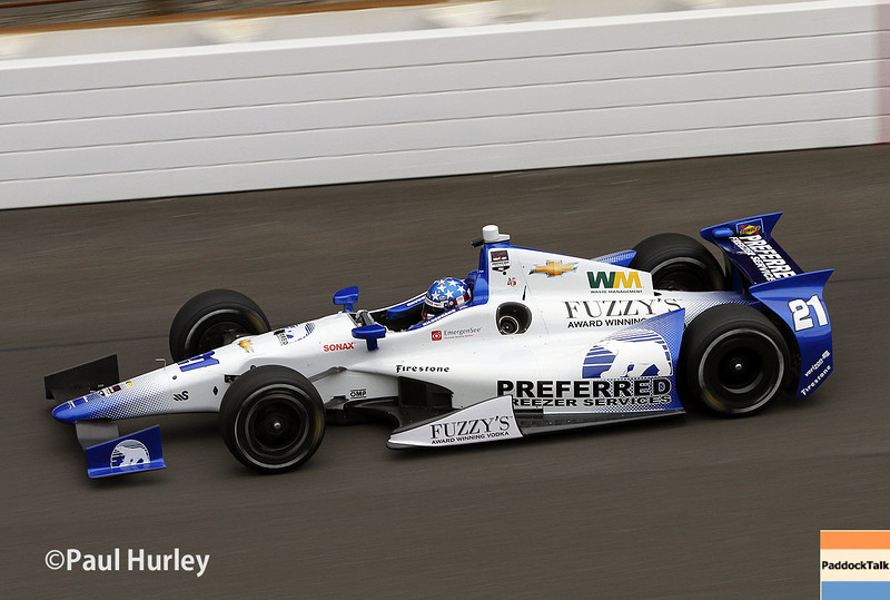 May 15: J.R. Hildebrand during practice for the Indianapolis 500.