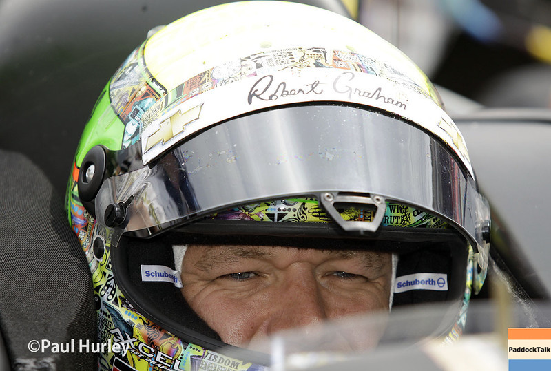 May 13: Townsend Bell during practice for the Indianapolis 500.