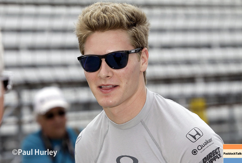 May 13: Josef Newgarden during practice for the Indianapolis 500.