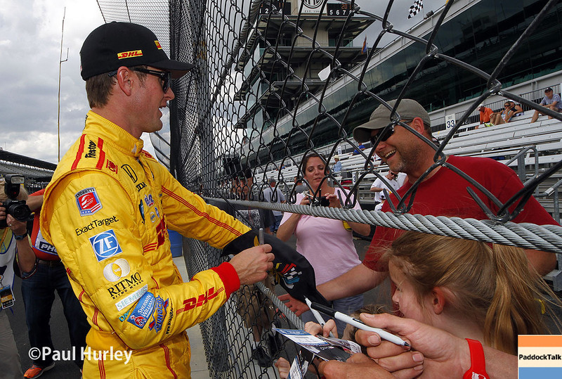 May 10: Ryan Hunter-Reay during practice for the Indianapolis 500.