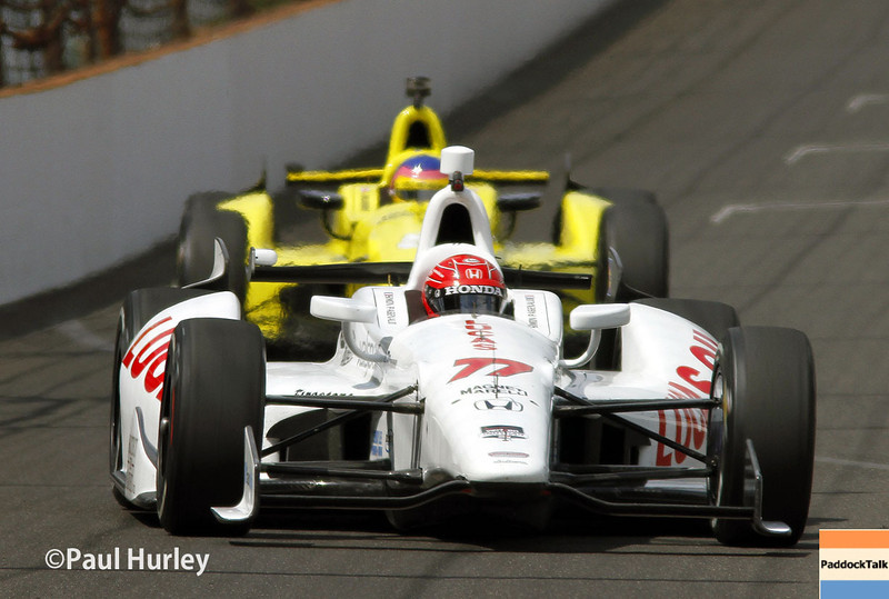 May 12: Simon Pagenaud during practice for the Indianapolis 500.