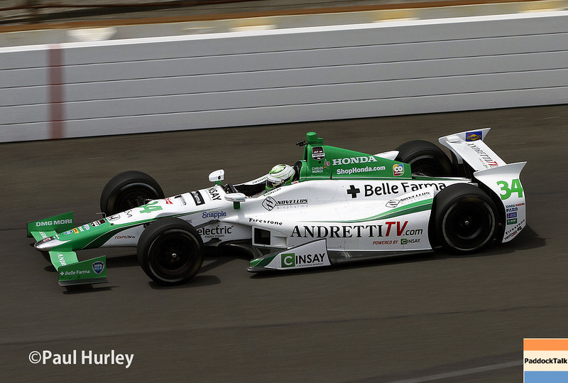 May 15: Carlos Munoz during practice for the Indianapolis 500.