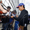 May 13: Takuma Sato during practice for the Indianapolis 500.