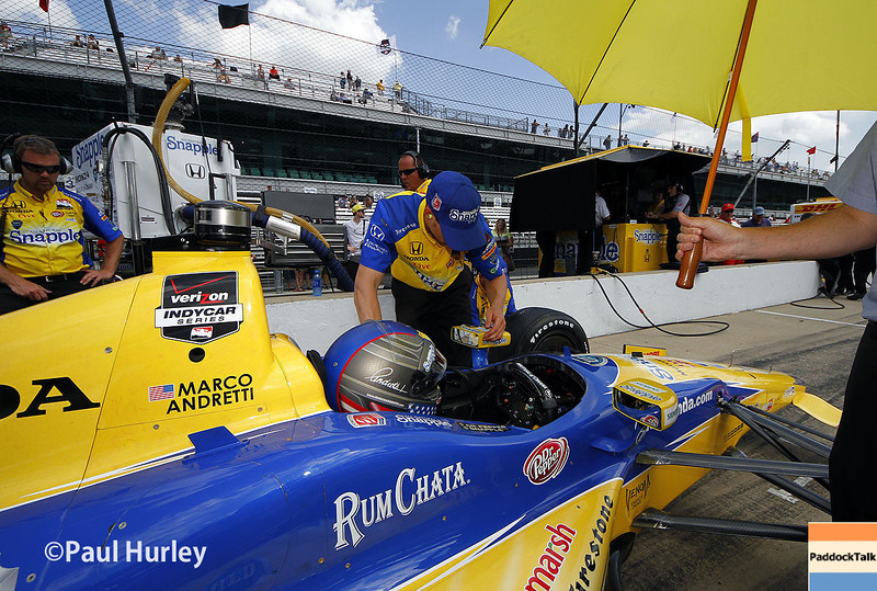 May 10: Marco Andretti during practice for the Indianapolis 500.