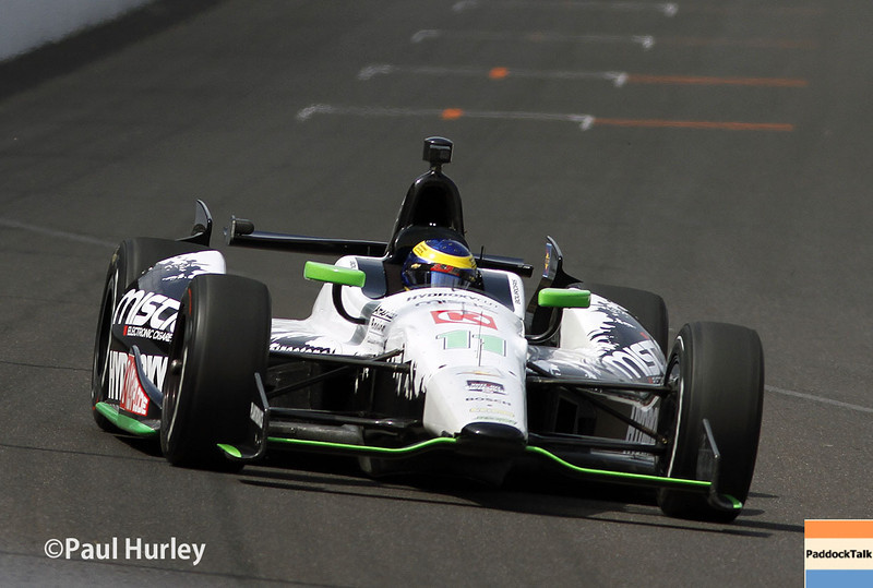 May 12: Sebastien Bourdais during practice for the Indianapolis 500.