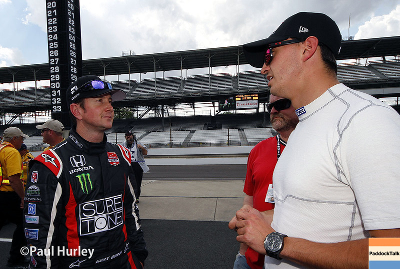 May 10: Kurt Busch and Graham Rahal during practice for the Indianapolis 500.