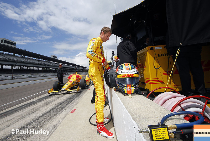 May 16: Ryan Hunter-Reay during practice for the Indianapolis 500.