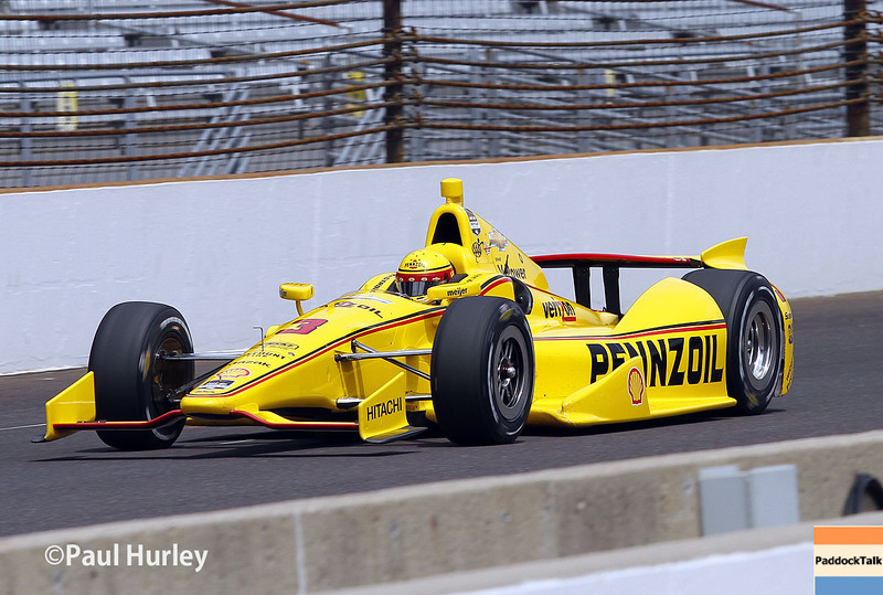 May 13: Helio Castroneves during practice for the Indianapolis 500.