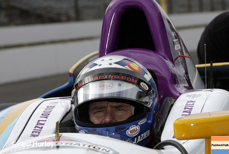 May 15: Buddy Lazier during practice for the Indianapolis 500.