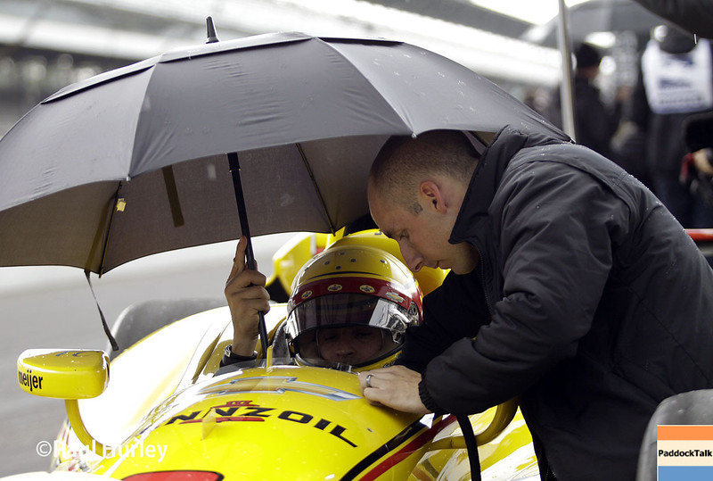 May 16: Helio Castroneves during practice for the Indianapolis 500.