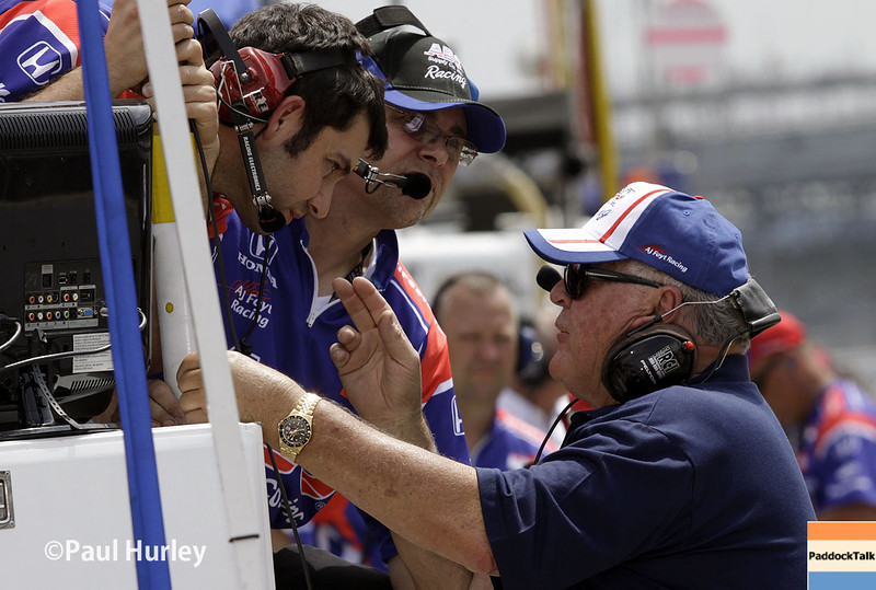 May 12: A.J. Foyt Jr. during practice for the Indianapolis 500.