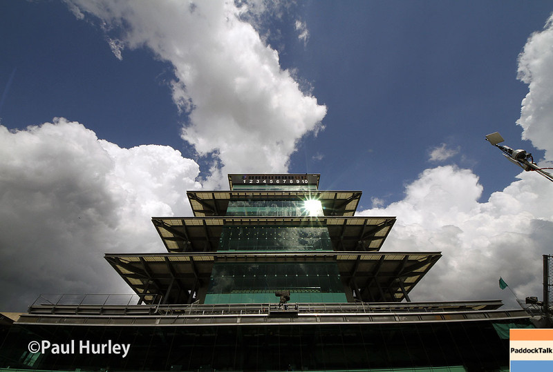 May 10: Pagoda during practice for the Indianapolis 500.