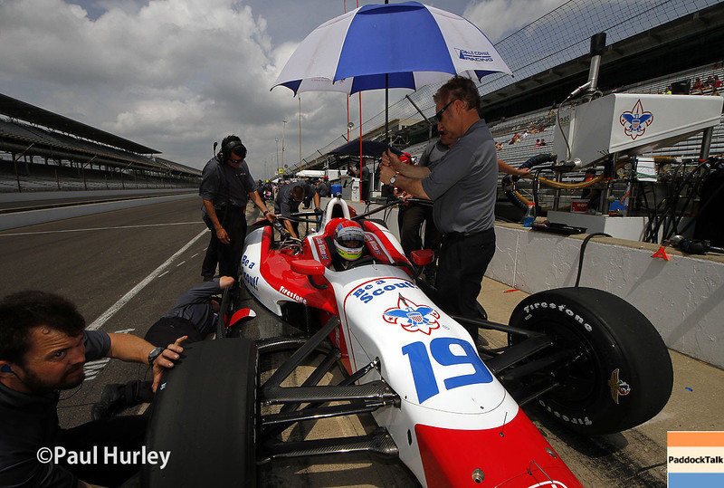 May 12: Justin Wilson during practice for the Indianapolis 500.