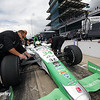 May 16: Carlos Munoz during practice for the Indianapolis 500.