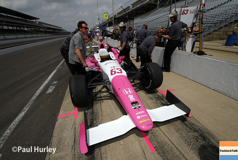 May 12: Pippa Mann during practice for the Indianapolis 500.