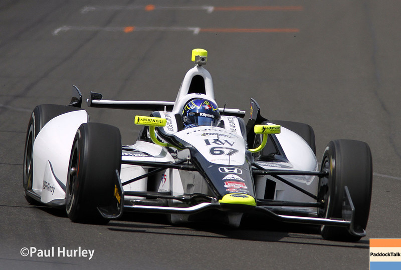 May 12: Josef Newgarden during practice for the Indianapolis 500.