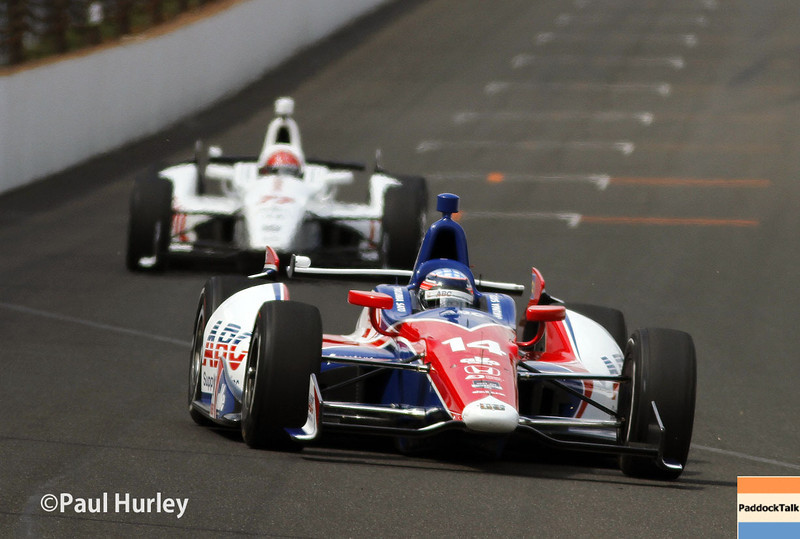 May 12: Takuma Sato during practice for the Indianapolis 500.