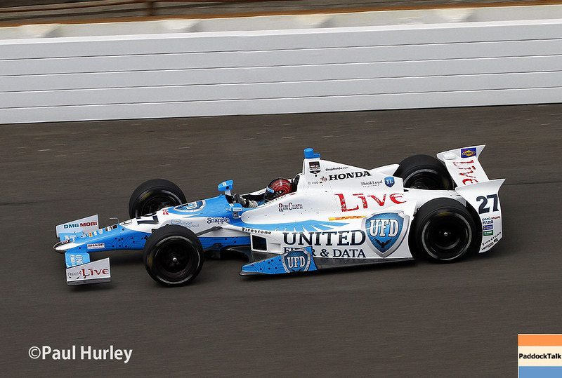May 12: E.J. Viso during practice for the Indianapolis 500.
