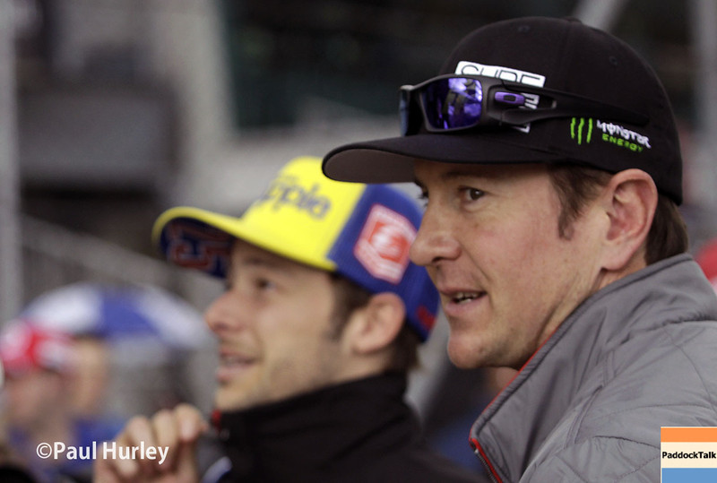 May 16: Kurt Busch and Marco Andretti during practice for the Indianapolis 500.