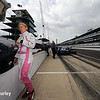 May 13: Pippa Mann during practice for the Indianapolis 500.