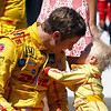 May 25: Ryan and Ryden Hunter-Reay after the 98th Indianapolis 500.